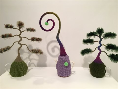 Rosy Hardress - Green Bonsai Tree, Curly Top and Purple Bonsai Tree
